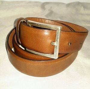 Allen Edmonds Brown Leather Belt Sz 38 EUC